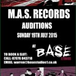 M.A.S. Records Auditions This Sunday ! (July 19th)